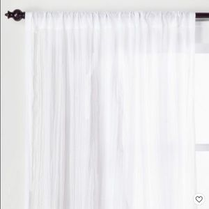 Sheer Crushed Fabric Curtains